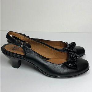 Sofft Kitten Heel Black Slingback Shoe sz 8